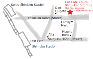 Cat Cafe Calico Map