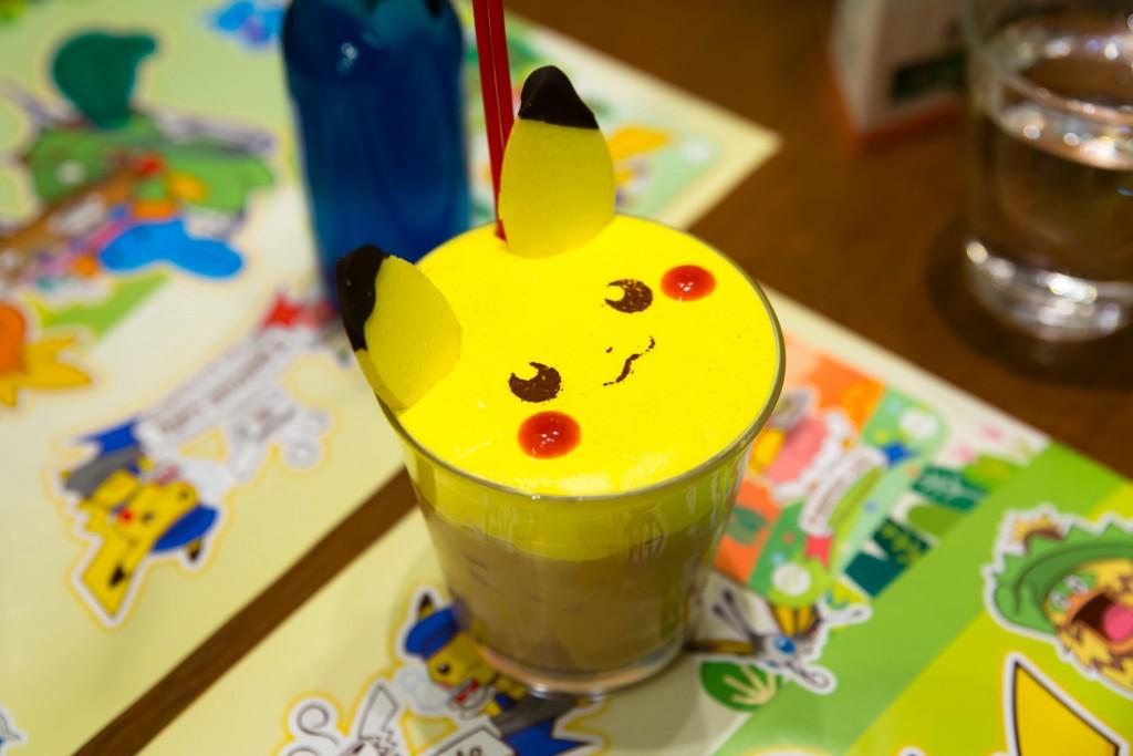 Pikachu iced latte